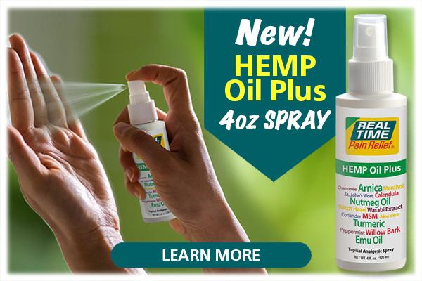 New 4oz Hemp Oil Plus Spray...Click Here