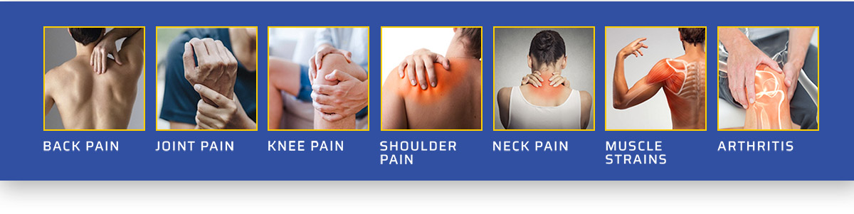 Back Pain, Joint Pain, Knee Pain, Shoulder Pain, Neck Pain, Muscle Strains, Arthritis, it does not matter...Your Pain may be tough, don't worry, it can't withstand the punch from George Foreman's KNOCKOUT Pain Relief Formula… We guarantee it.