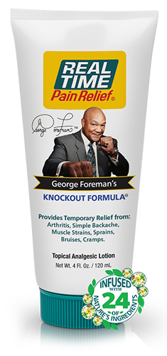 George Foreman's Knockout Formula Pain Relief Tube