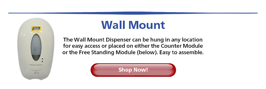 The Wall Mount Dispenser can be hung in any location for easy access or placed on either the Counter Module or the Free Standing Module (below). Easy to assemble...Shop Now