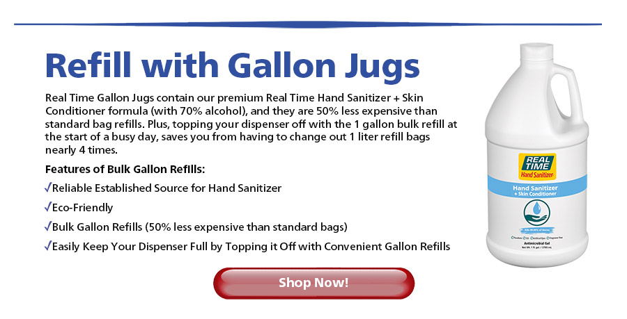 Refill with Gallon Jugs... Shop Now
