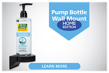 The Pump Bottle Wall-Mount – Anti-Theft Edition is the most cost efficient and highly effective hand sanitizer container available.  This patented container features Sturdy Wall Mounts to stop germs at the door....Click to Learn More