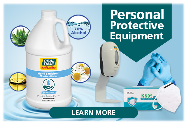 With 20 years of international production and logistics experience, even throughout the COVID-19 crisis, Real Time products has been able to deliver essentials needed by families, businesses and organizations. Real Time Products produces high quality Personal Protection Equipment in 9 countries and passes Factory Direct Savings along to you...Click Here