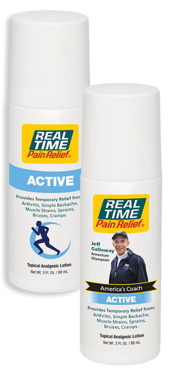 ACTIVE Pain Relief Roll-Ons with regular and Jeff Galloway labels