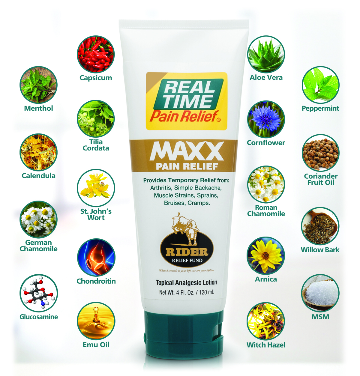 <span class='notranslate'>Real Time Pain Relief</span> formulas use a combination of over 45 of nature's ingredients so that you can feel good about each application.