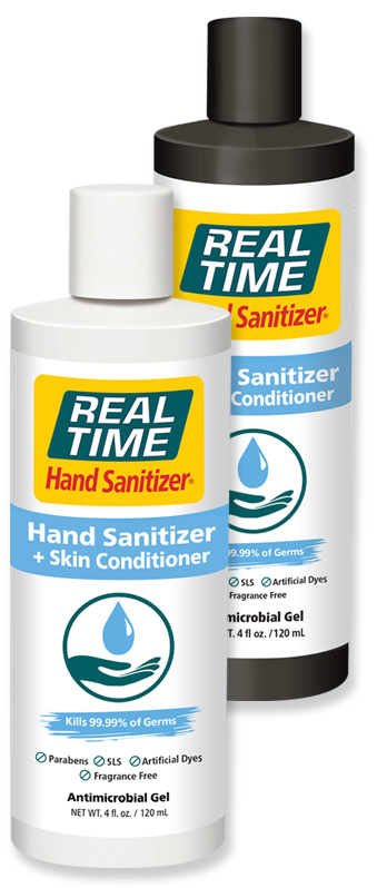 HAND Sanitizer + Skin Conditioner by Real Time