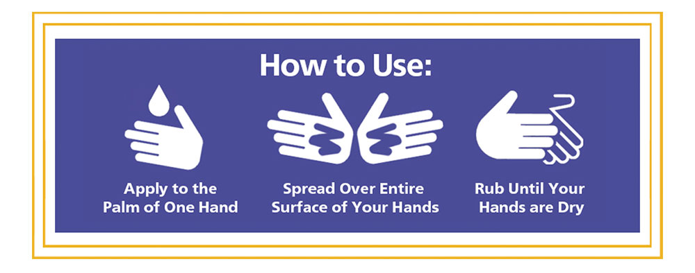 How do I Use Hand Sanitizer + Skin Conditioner by Nujuvena? Apply the Product to the Palm of One Hand, Spread Product Over Entire Surface of Your Hands, Rub Until Your Hands are Dry