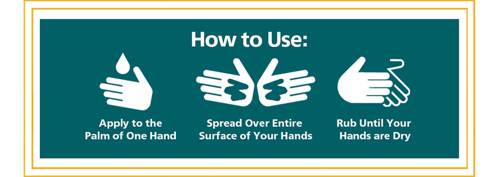 How do I Use Hand Sanitizer + Skin Conditioner by Real Time? Apply the Product to the Palm of One Hand, Spread Product Over Entire Surface of Your Hands, Rub Until Your Hands are Dry