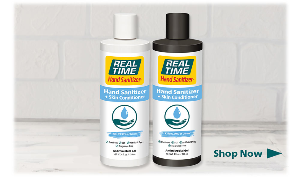 Shop Hand Sanitizer + Skin Conditioner by Real Time  Now