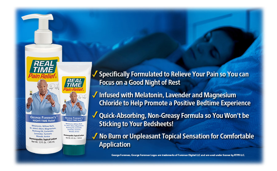 Specifically Formulated for Pain Relief at Bedtime, Infused with Melatonin, Lavender and Magnesium Chloride to Help Promote a Positive Nighttime Experience