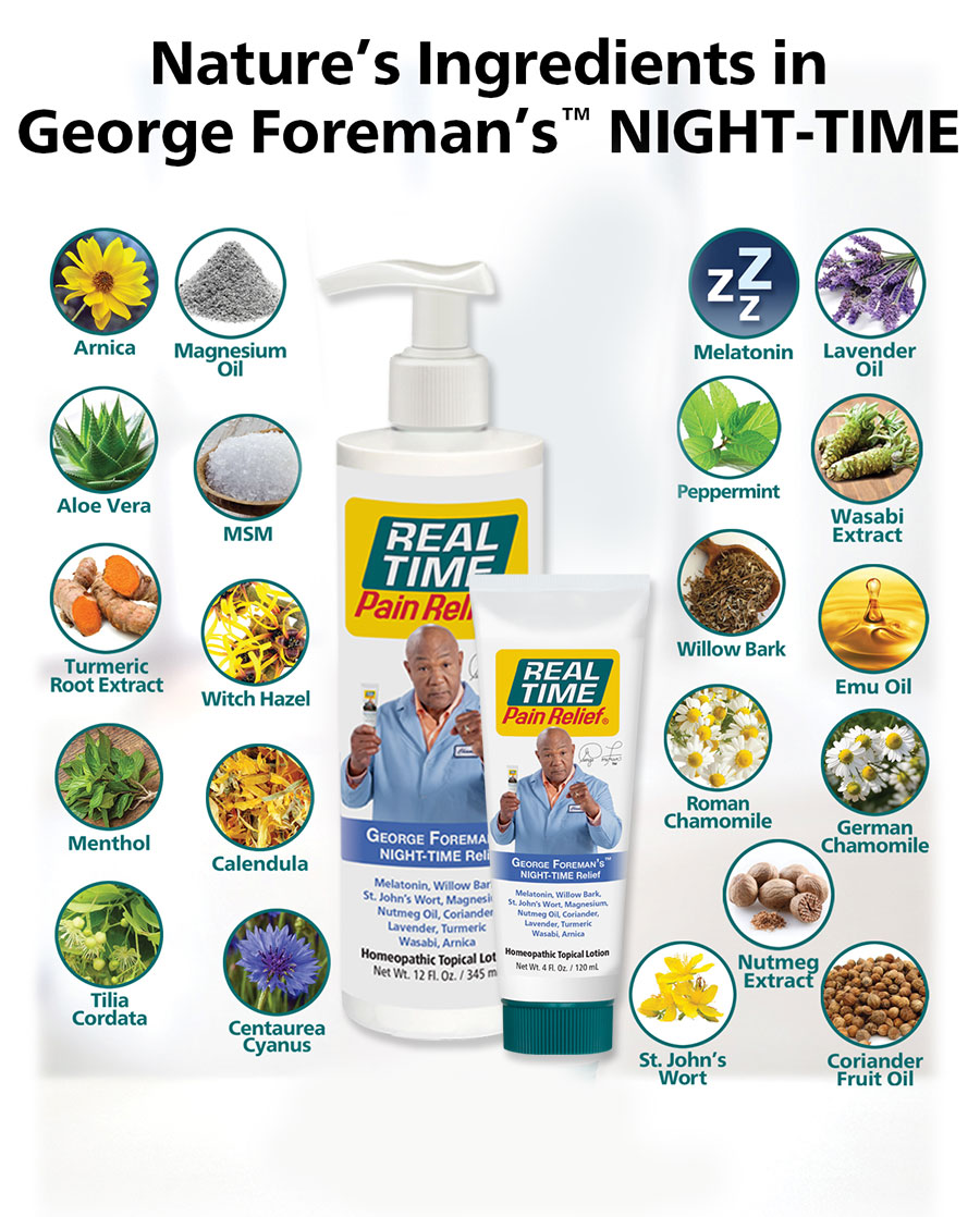 Over 21 Ingredients to Relieve your Pain and give you a restful night sleep