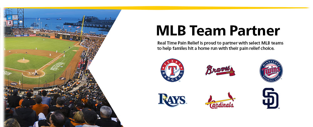 <span class='notranslate'>Real Time Pain Relief</span> is proud to partner with select MLB teams