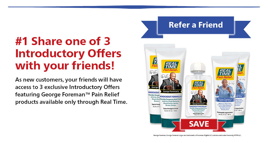 Share one of 3 Introductory Offers with your friends!