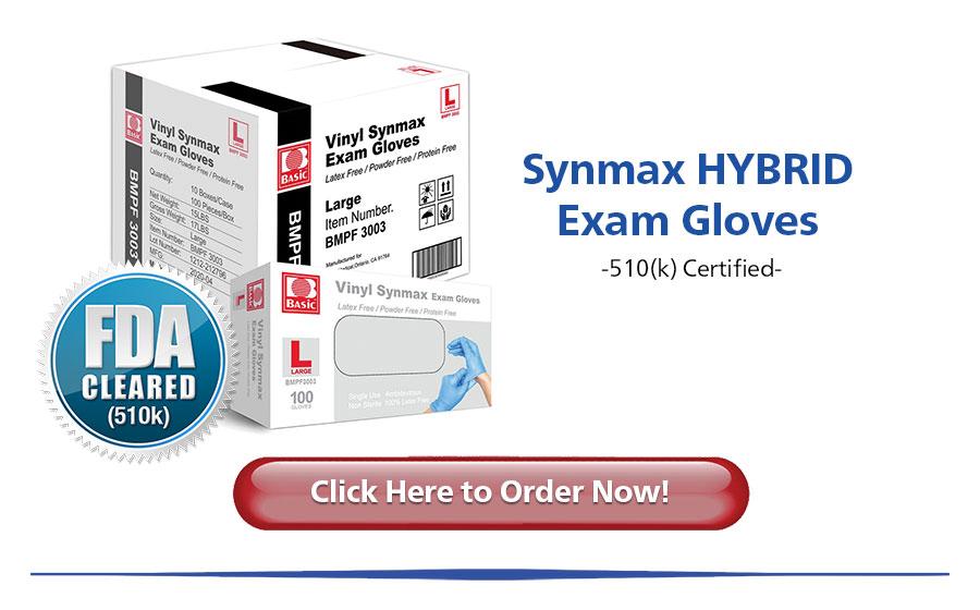 Basic Vinyl-Nitrile Hybrid Blue Exam Gloves Click to pre-order