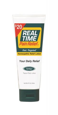 <span class='notranslate'>Real Time Pain Relief</span> Daily Relief Lotion