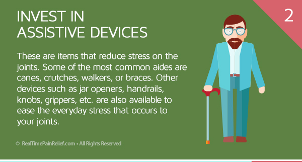 Assistive Devices can relieve pain from osteoarthritis