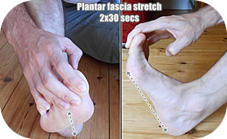 Stretching foot can relieve plantar fasciitis