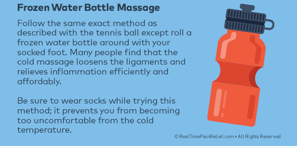 frozen water ball can massage and relieve plantar fasciitis pain