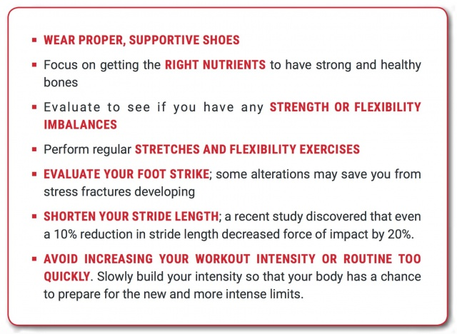 Stress Fracture Prevention Tips
