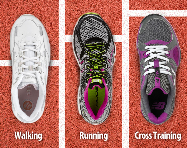Buy different shoes for walking and running