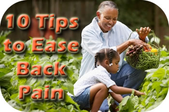 10 tips to ease back pain