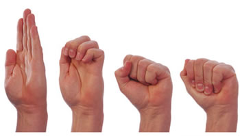 Using hand exercises to relieve hand and knuckle pain.