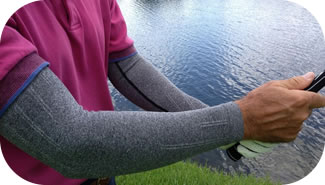Compression can ease muscle strain pain