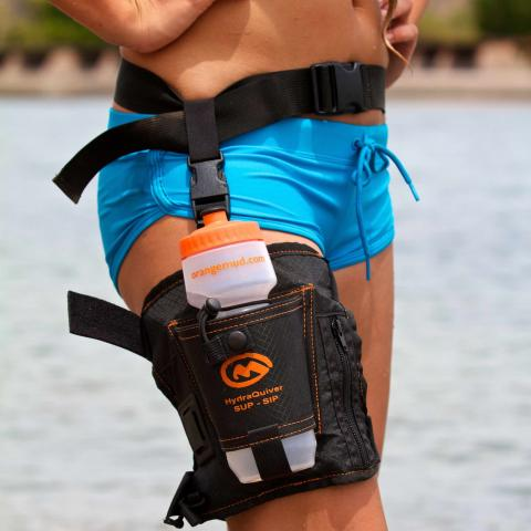 thigh holster is a hands-free way to carry water on your run