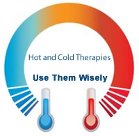 Hot and cold therapy to fight pain