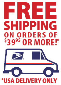Free Shipping in the USA for Retail orders $39.96