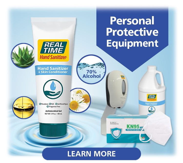 Real Time offers various Personal Protective Equipment (PPE) to keep you safe...Click Here