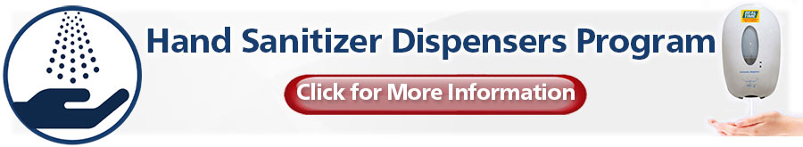 Hand Sanitizer Dispenser Program to help you open safely...Click here for More Info