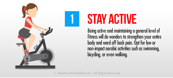 Stay Active to ease back pain