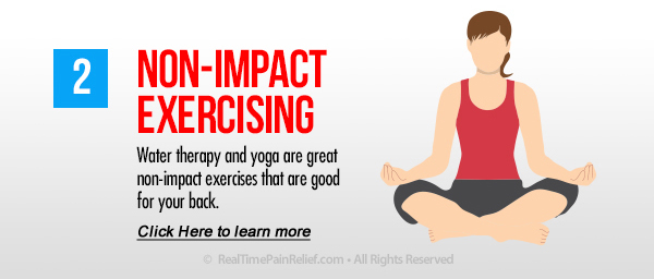 Non-impact Exercise will lessen back pain