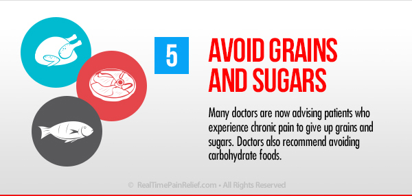 Avoid grains and sugars to ease back pain