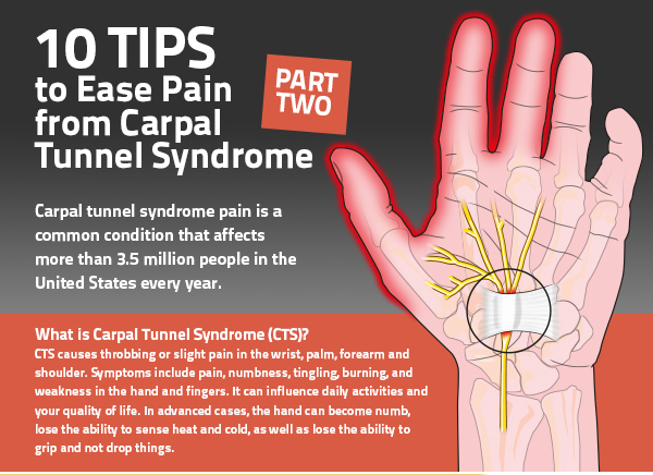 10 tips to ease pain from carpal tunnel syndrome part 2.