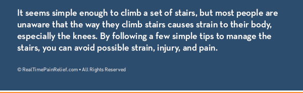 how to prevent knee strain from stair climbing