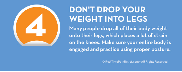 how to avoid knee pain from the stairs