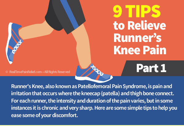 The first tips on how to ease pain from runner's knee.
