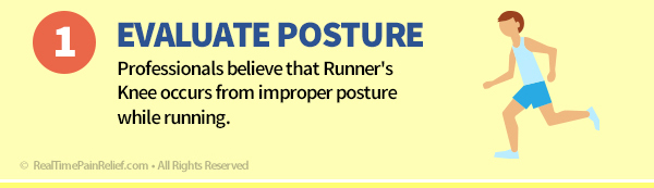Using proper posture while running can reduce pain from runner's knee.