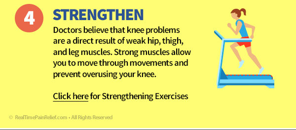 Strengthening your hip, thigh, and leg muscles can reduce pain from runner's knee.