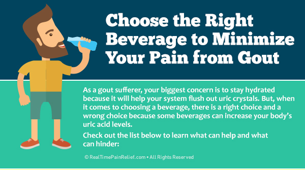 How to choose the right beverage to minimize gout attack