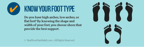 Know your foot type to prevent pain