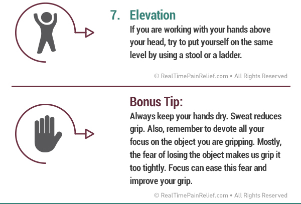 Keep your hands below your head to help blood flow and reduce carpal tunnel pain.
