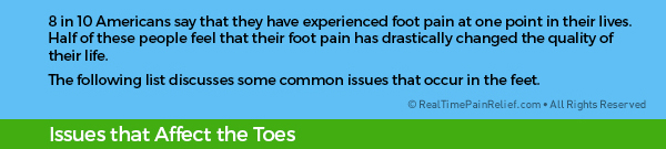 8 in 10 americans say they have experienced foot pain